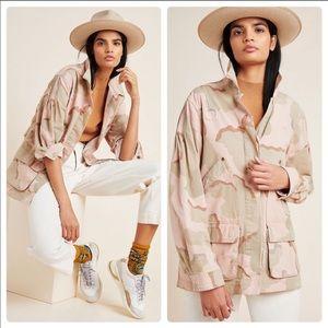 Anthropologie Lida Pink Camo Jacket Size S NWT